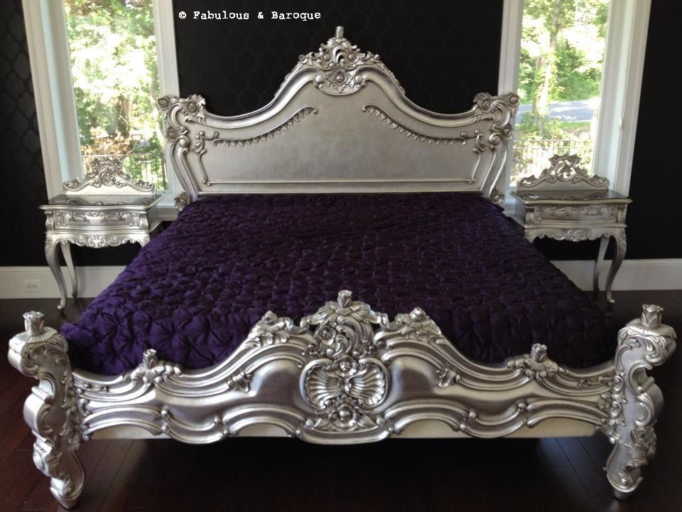 Royal Fortune Montespan Bed Silver Leaf Client Photo