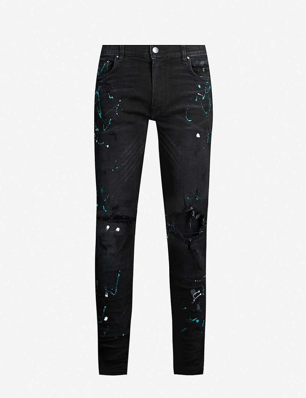 AMIRI Paint splattered skinny jeans   Skinny jeans, Fashion, Jeans