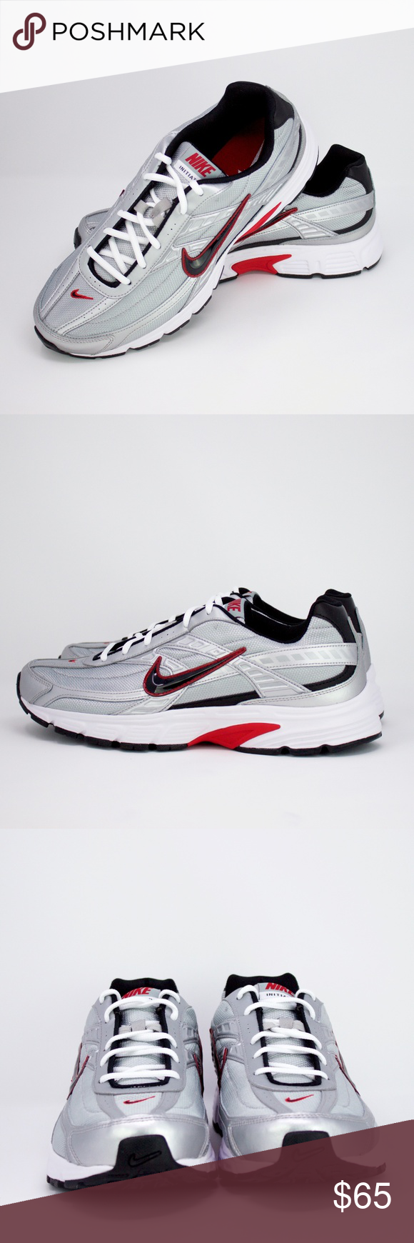 Men s Nike Initiator Trainers 12 Silver Red NEW Men s Nike Initiator  Trainers size 12 in 27add9d4d