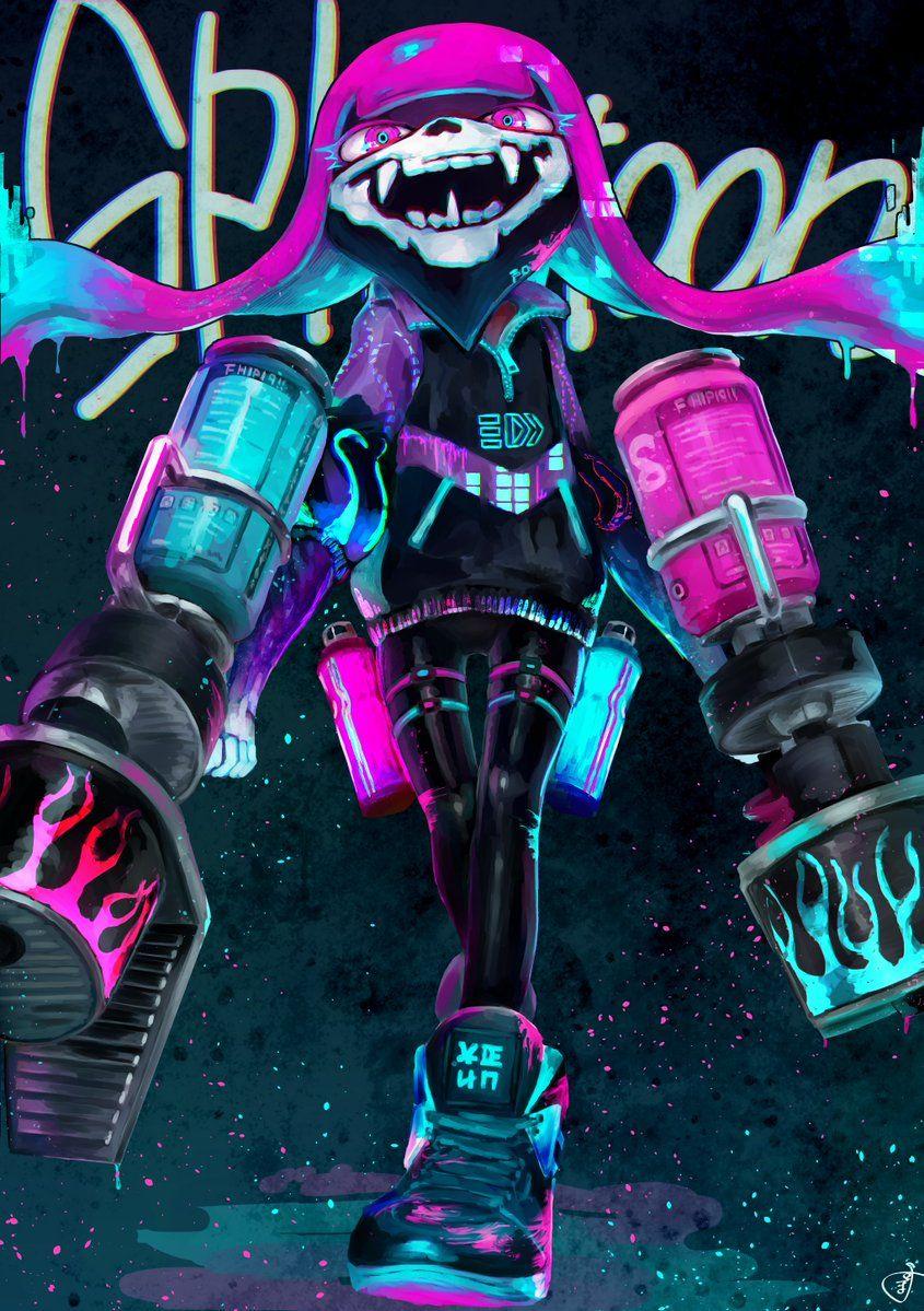 """ぽよぽよ on Twitter """"Blast off your heart!!… """" Splatoon"""