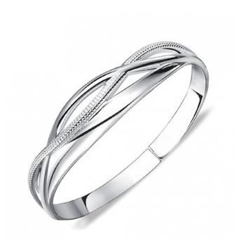 Sterling Silver Open Celtic Knot Bangle Cuff Bracelet