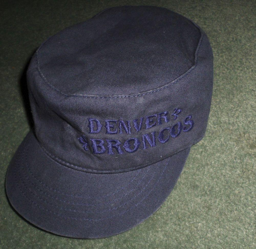 e79c44bbaeb Women s Blue DENVER BRONCOS REEBOK Vintage Collection Cadet Hat ...