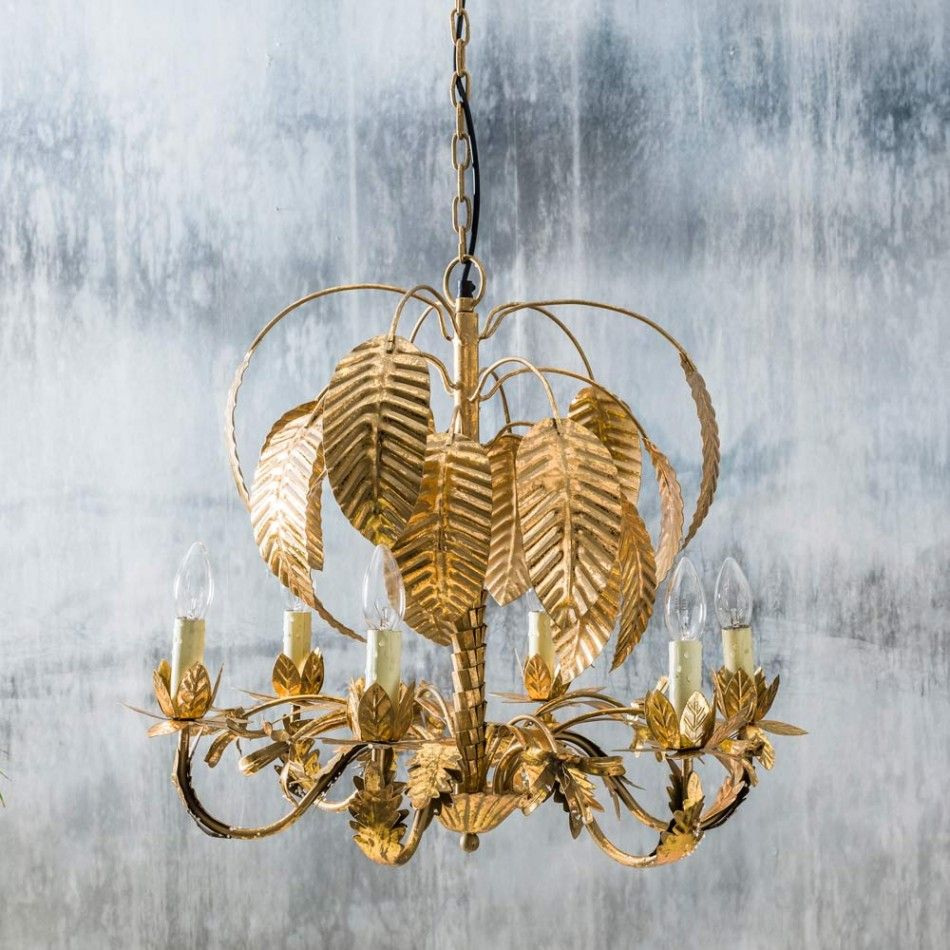 Palm Tree Chandelier Gold Graham