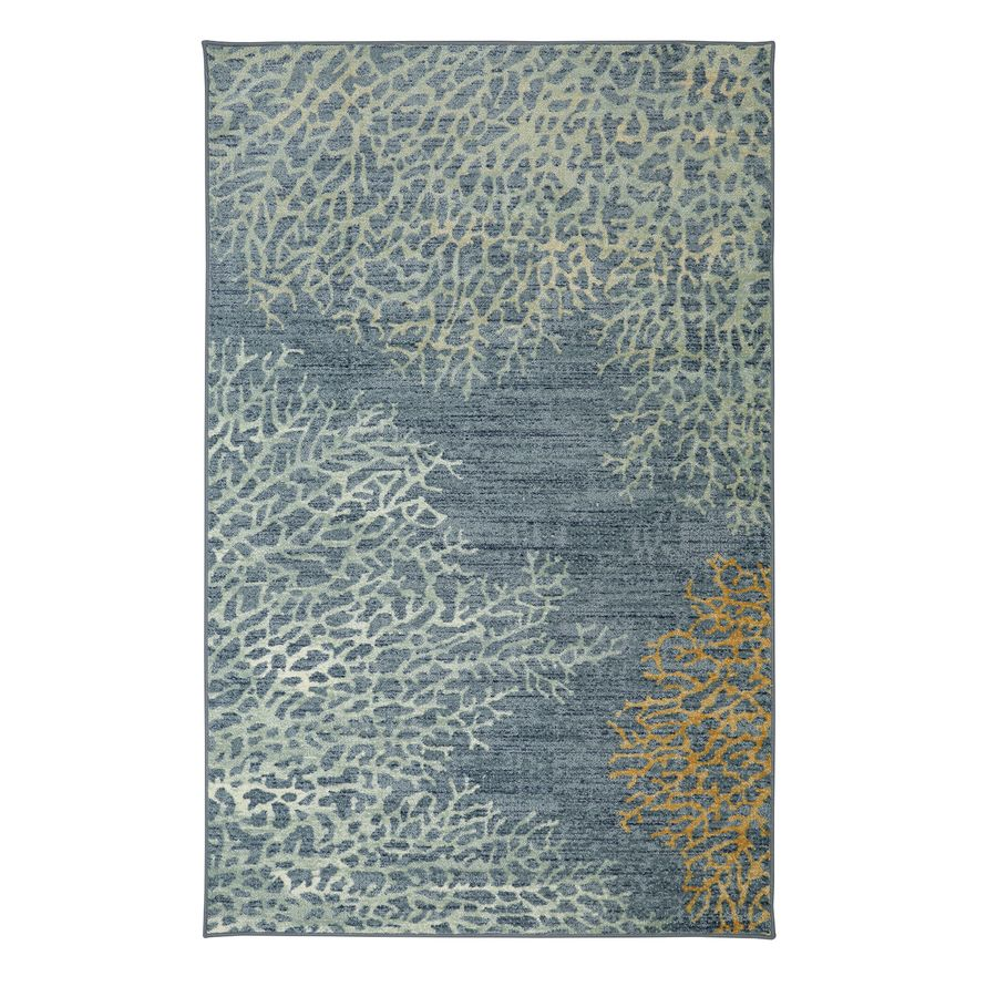 Mohawk Home Coral Reef Multi Blue Rectangular Indoor Tufted Area Rug Common 5 X 8 Actual 60 In W X 96 In L Area Rugs Coastal Area Rugs Indoor Area Rugs