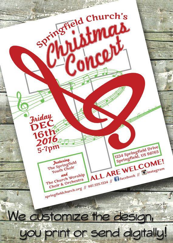 Christmas Concert Holiday Concert Church School Music