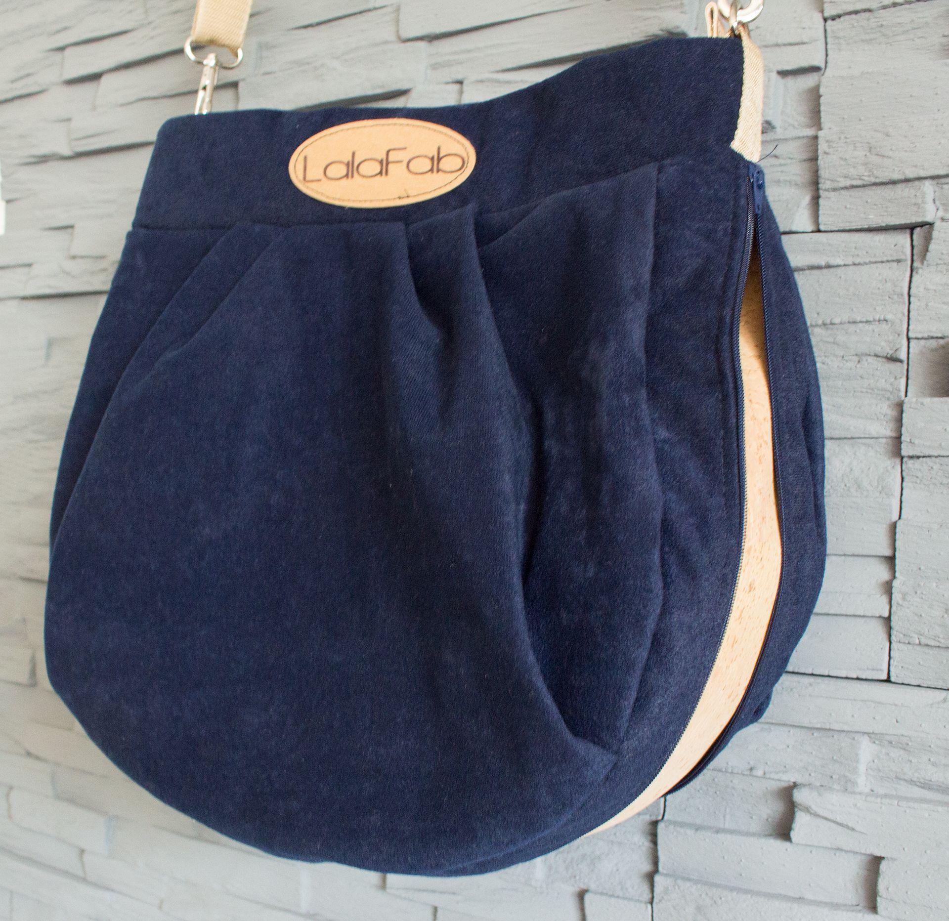 Die Hobo Bag mit Korkelementen | Pattydoo, Reißverschluss und Blau