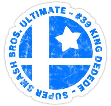 King Dedede Main Super Smash Bros Sticker Smash Bros Super Smash Bros Smash