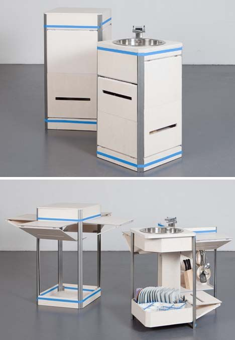 Justin Case Compact Modular Kitchen In A Box By Maria Lobisch And Andreas  Näther | Shut Up And Take My Money! | Pinterest | Compact Kitchen, Compact  And ...