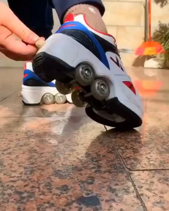 Turn your shoes into skate!