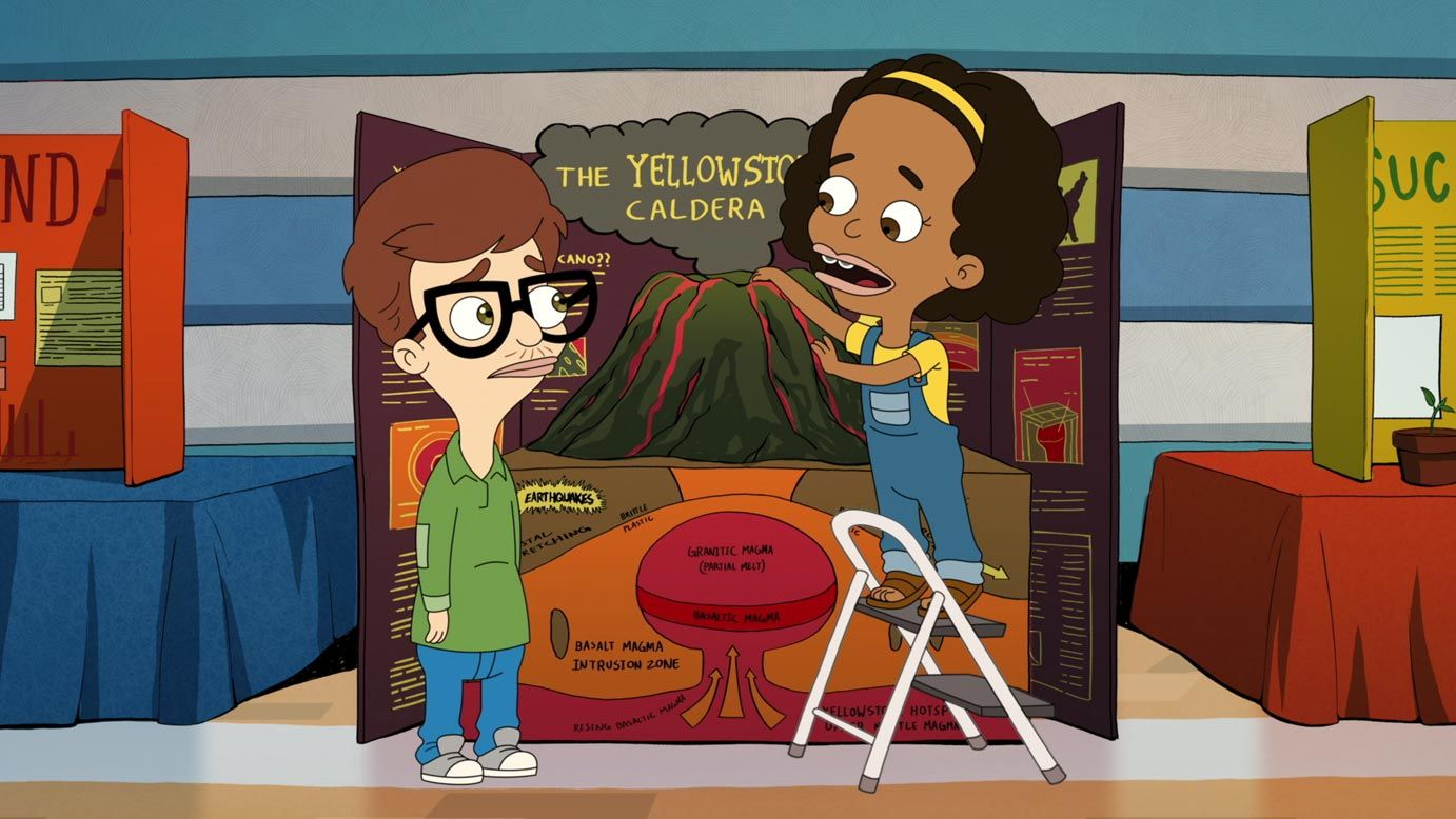 John Mulaney Voices Andrew Jenny Slate Voices Missy In Season 1 Episode 7 Of Big Mouth Source Netflix Big Mouth Funny Shows Cartoon