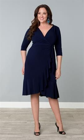 Whimsy Wrap Dress Plus Size Dresses Onestopplus My Style For