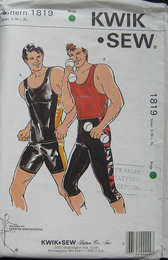 Kwik Sew Mens Workout Wear Pattern 1819