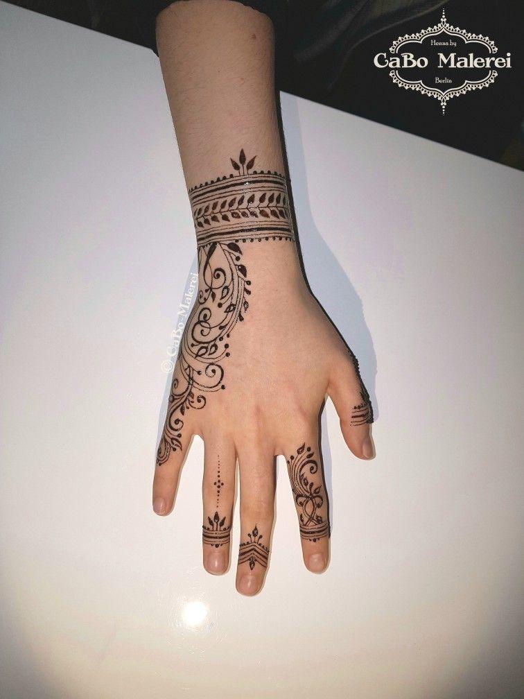 Henna Tattoo Schwarz Allergie: #jagua #art By #CaBoMalerei #natural #bluish #black