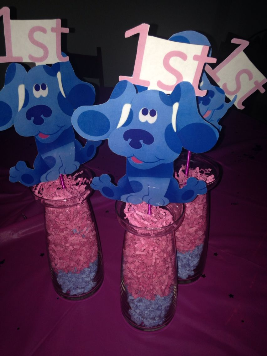 DYI Blues Clues center piece.! All you need is a laminated picture ...