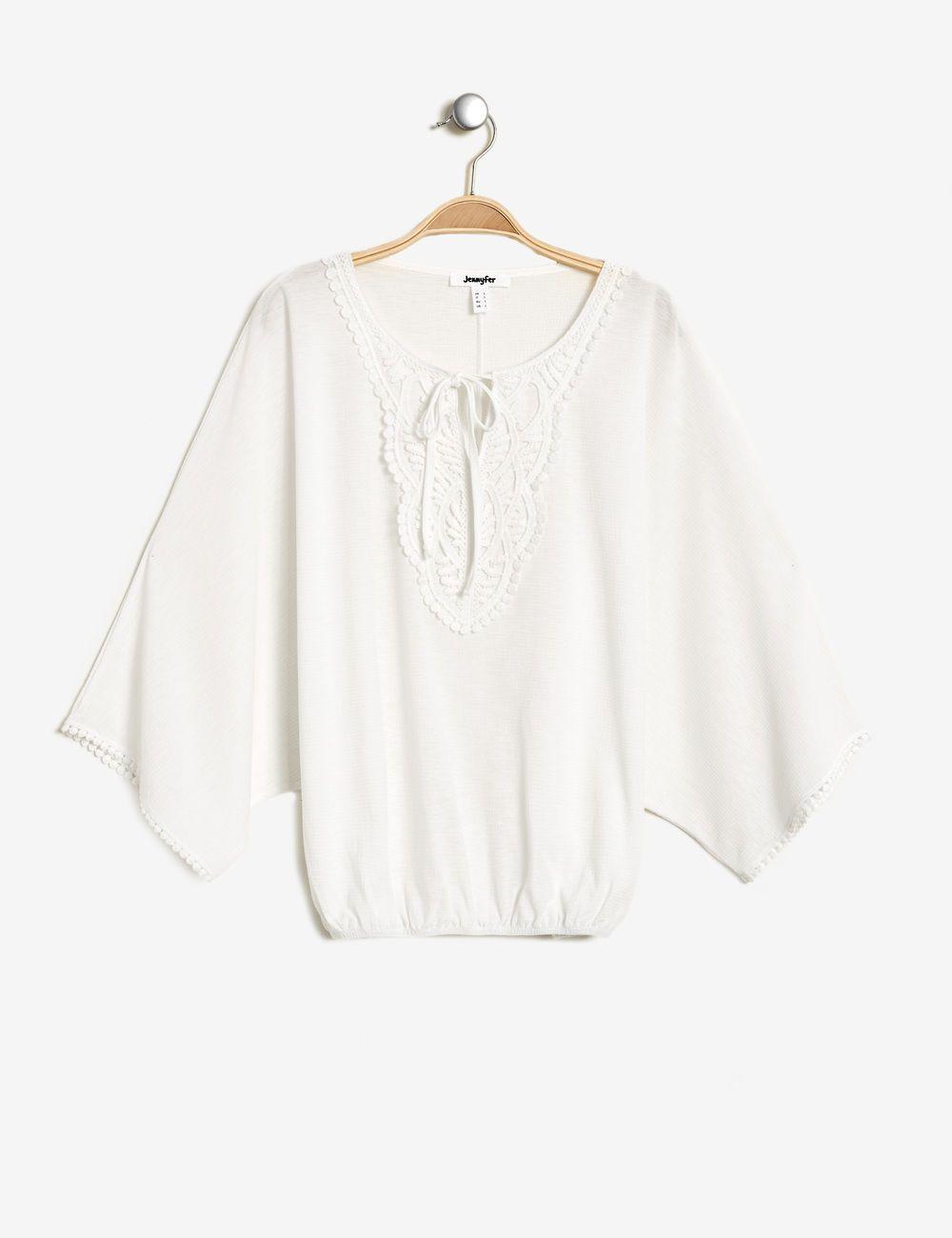 5bf90ff1d0d Tee-shirt chauve-souris écru femme • Jennyfer