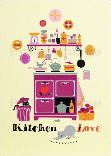 Küchenliebe poster küchenliebe illustrations and doodles