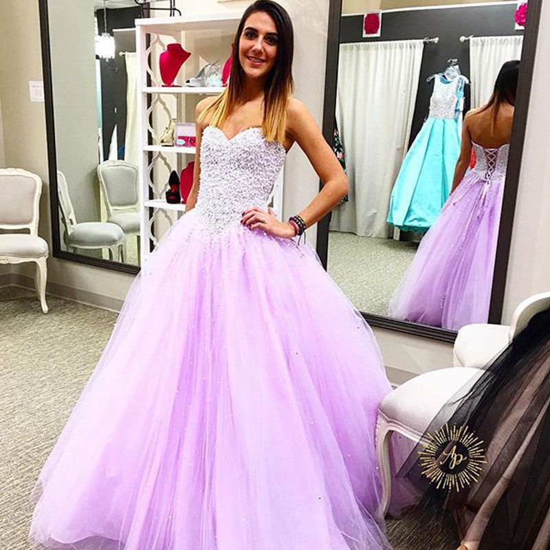 New Arrival Prom Dress,Modest Prom Dress,elegant pearl beaded   Ball ...