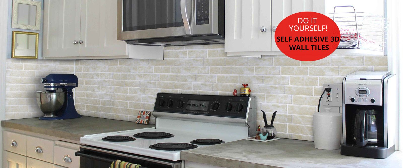 Self Adhesive 3d Wall Tiles For Kitchen Backsplash Peel And Stick