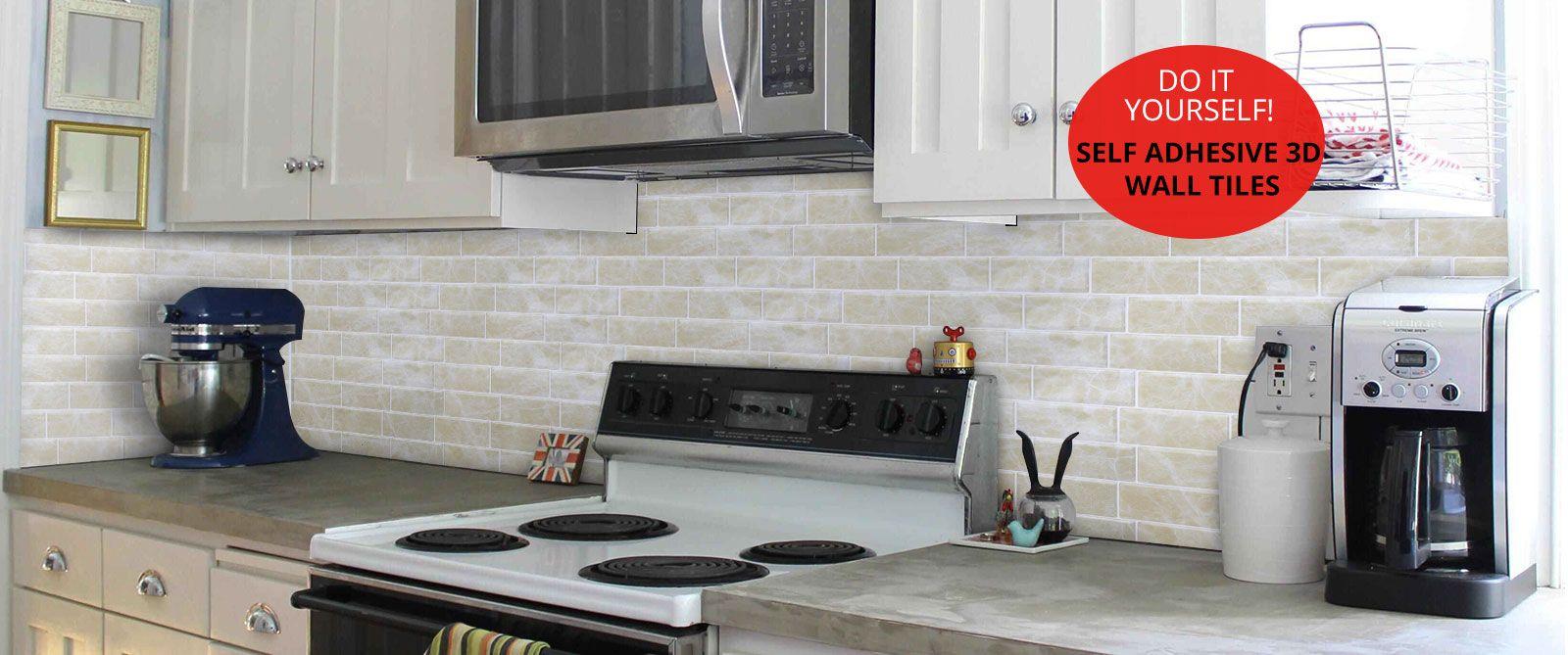Self Adhesive 3d Wall Tiles For Kitchen Backsplash Kitchen Wall