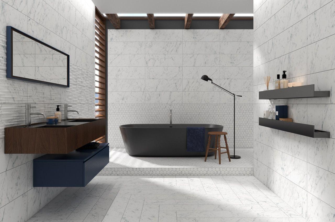 Studio M 4 X 12 Carrara Porcelain Floor Wall Tile Matte Finish On Sale 3 98 Sq Ft Bathtubs For Sale Wall Tiles Porcelain Flooring