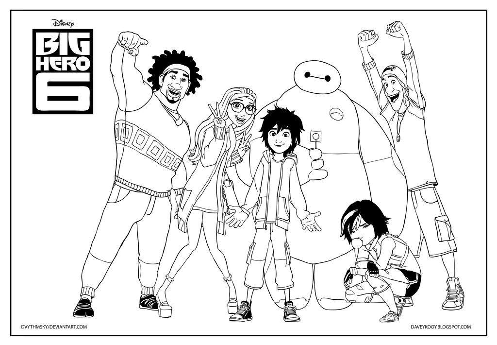 Big Hero 6 Coloring Page By Dvythmsky