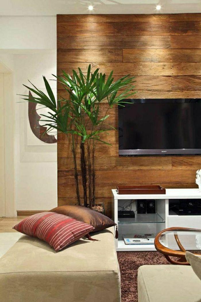 Wandverkleidung Wohnzimmer in 2020   Wandpaneele, Holzwand wohnzimmer, Wohnzimmer gestalten