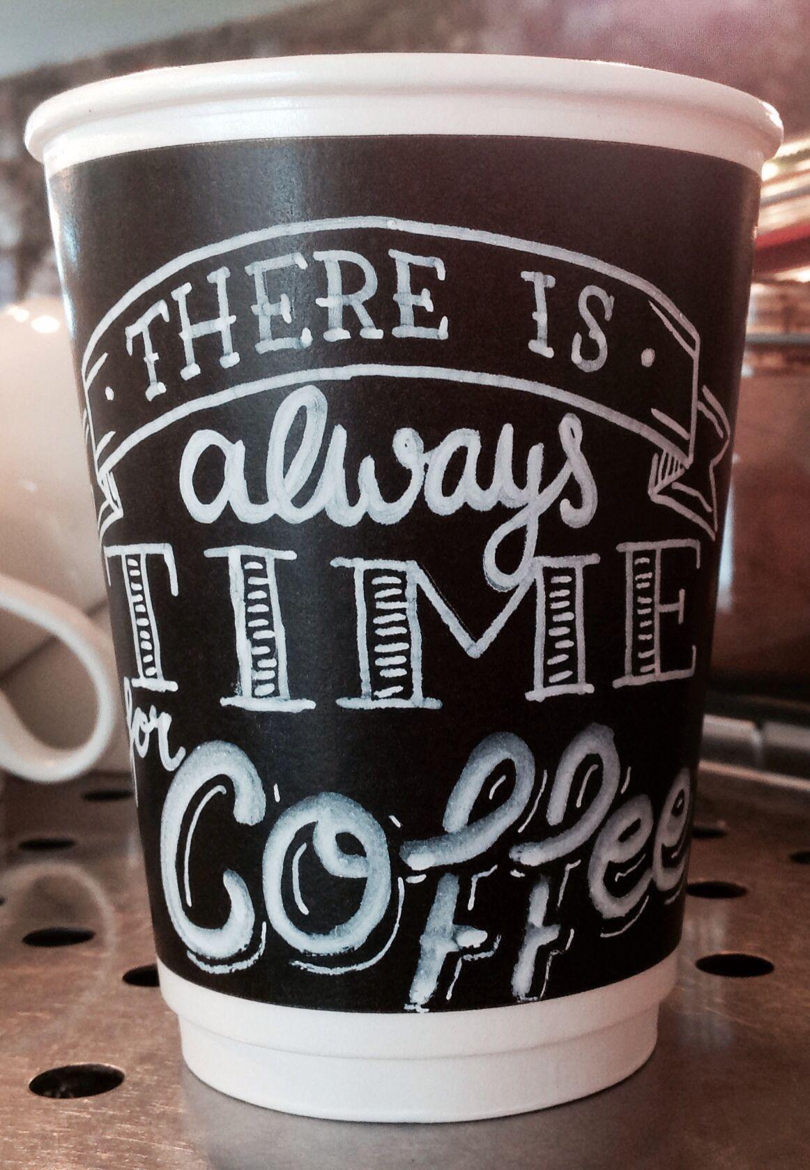 T/A Coffee Cup Doodle by blackboard duty