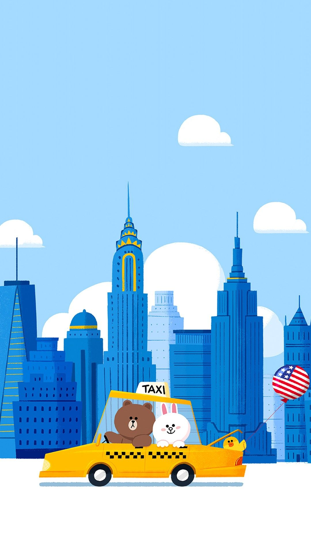 Brown Cony Travel To New York City Cute Cartoon Wallpapers Character Wallpaper Cute Wallpapers