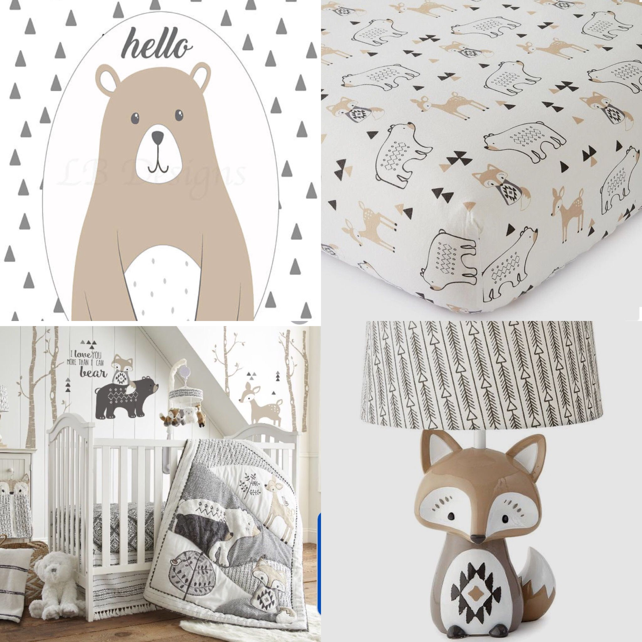Levtex Baby Bailey Nursery Decor, Woodland Nursery Ideas, Gender Neutral