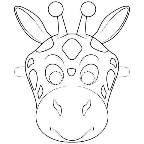 Mascara De Cebra Para Colorear Caretas De Animales Mascara De Animales Antifaz De Animales