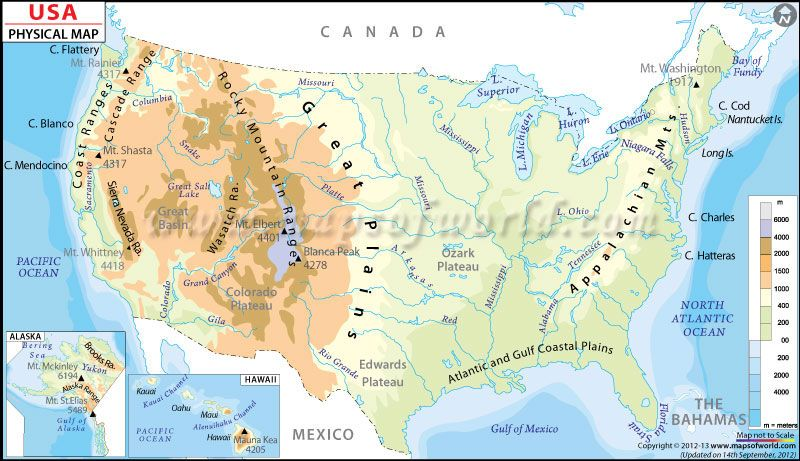 USA Physical Map DOWNLOADABLE AND PRINTABLE MAPS Social - Rivers usa map
