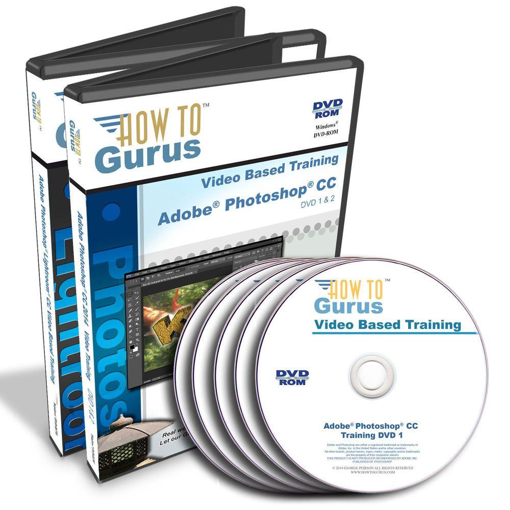Adobe Photoshop Lightroom 6 tutorial and Photoshop CC training 5 DVDs 31 hours #HowToGurus