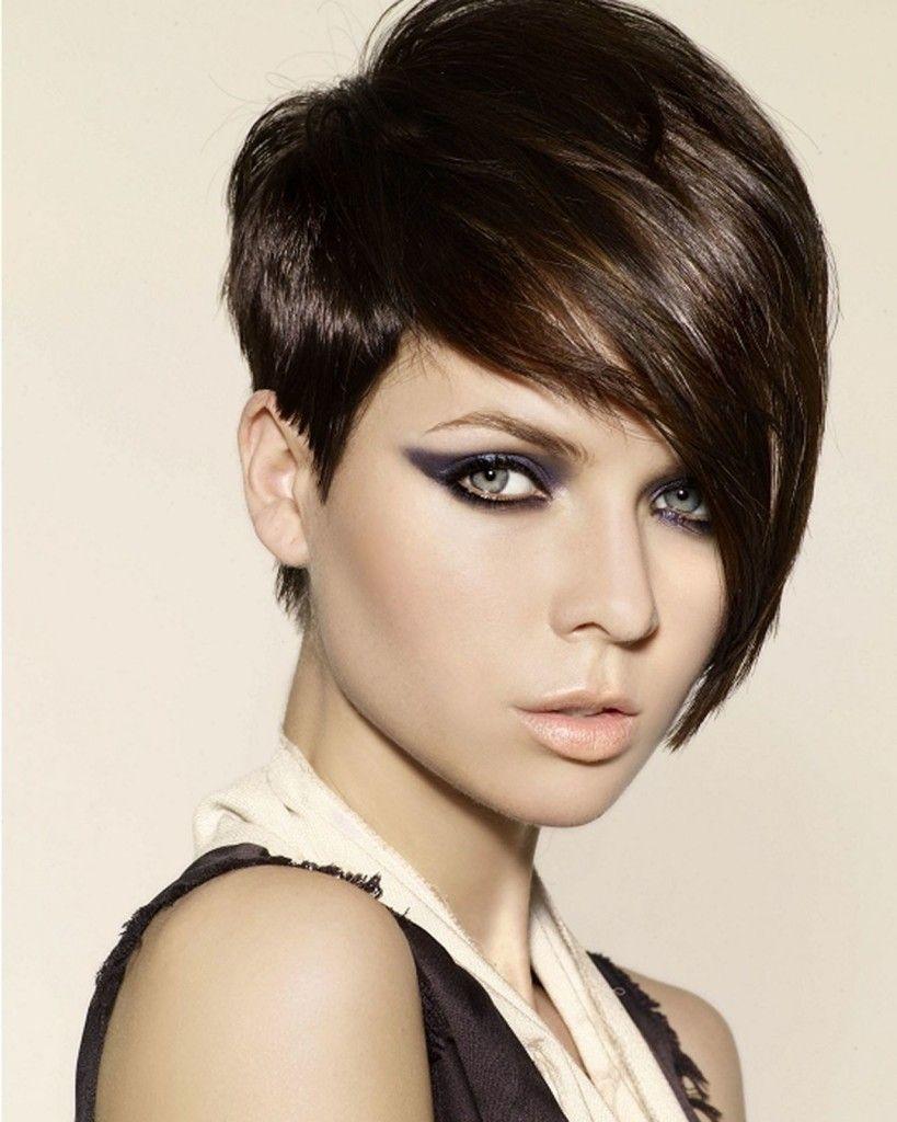 Shorthairstyleswithlongbangs hair cuts pinterest long