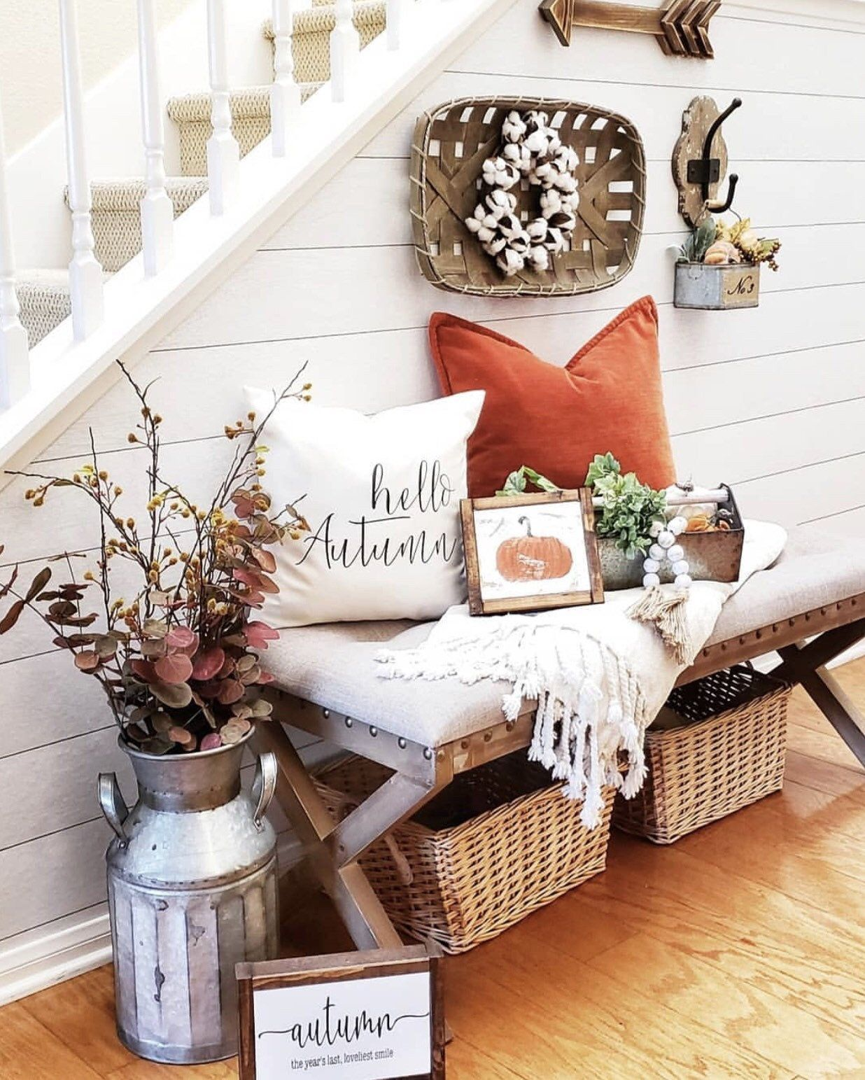 hello autumn pillow cover, farmhouse pillow cover, fall pillow cover for fall, autumn pillow cover, thanksgiving pillow cover, fall decor