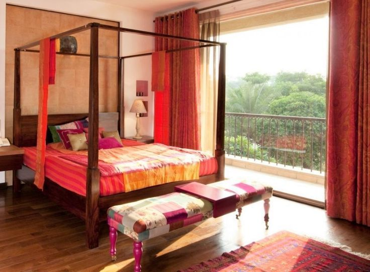 Indian Homes Bedroom Traditional Decor #indischesschlafzimmer