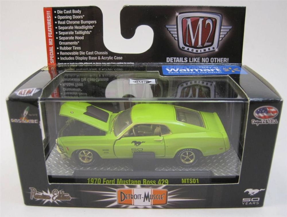 M2 Machines Gold Chase 1970 Ford Mustang Boss 429 50 Years 1 64 Diecast Walmart Exclusive 27 99 Obo M2machines Ford Diecast Diecast Cars Ford Mustang Boss