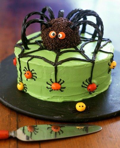 Terrific Halloween Spider Cake Halloween Cupcakes Spider Cake Halloween Funny Birthday Cards Online Inifofree Goldxyz