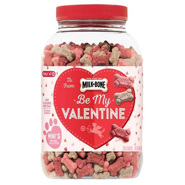 Milk Bone Valentine S Day Canister Dog Treats 36oz Target In