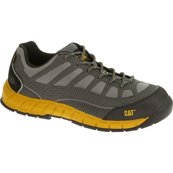 Caterpillar Streamline ESD Composite Toe Work Shoe (13160 RSD) ❤ liked on Polyvore featuring men's fashion, men's shoes and grey