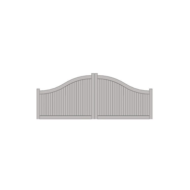 Hoover Fence The Cadence Arched 4 6 H X 16 W Vinyl Double Gate Kit Steel Frame In 2020 Gate Kit Fence Gate Design Double Gate