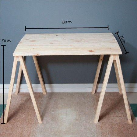 Mesa de Cavaletes Natural! - Tadah! Design Apê Pinterest