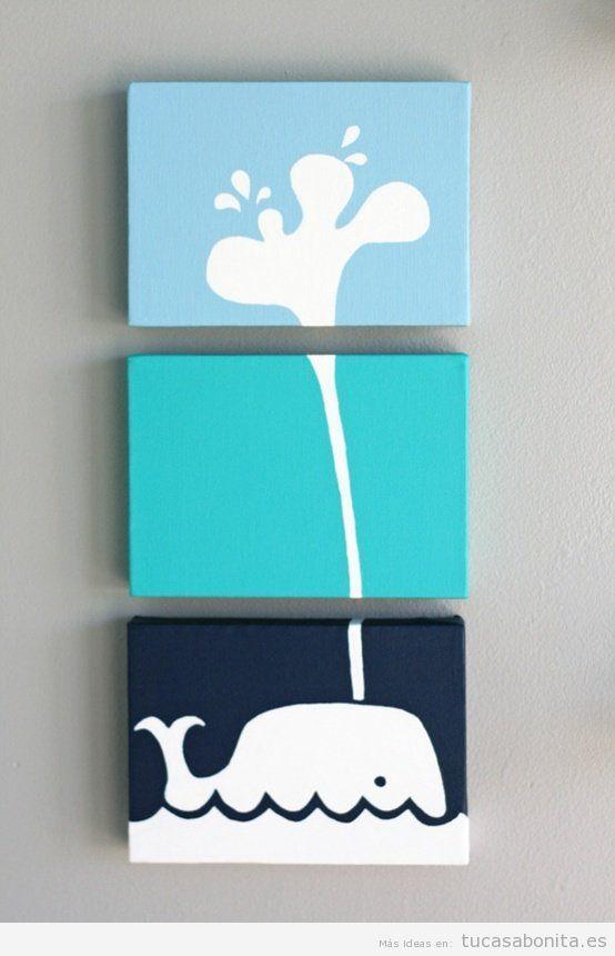 Manualidades y diy para decorar dormitorio infantil 8 - Manualidades faciles cuadros ...