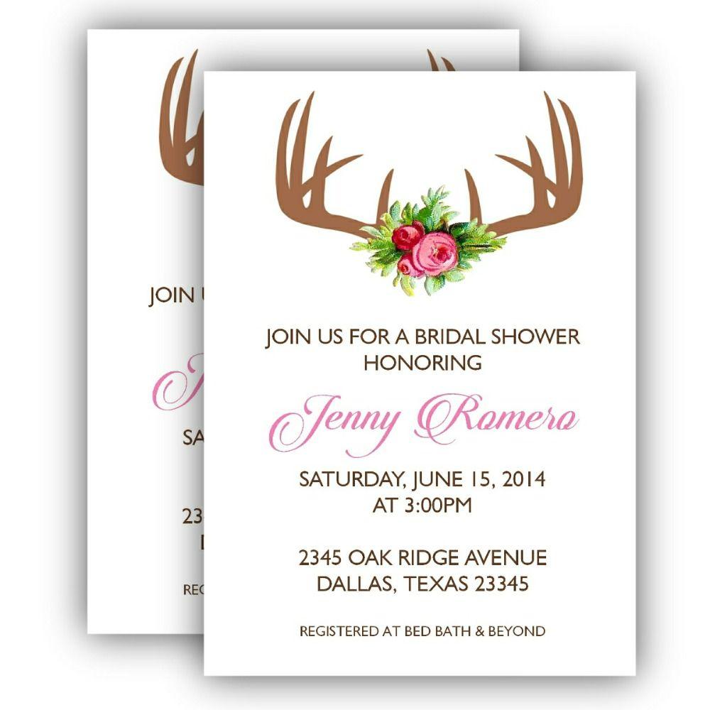 Printable Bridal Shower Invitation - Antler for $10.00 #onselz