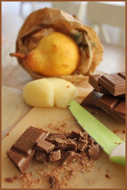 Panzerotto pere e cioccolato