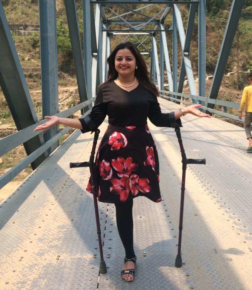 Amputee On Crutches Leg Braces Amputee Fashion