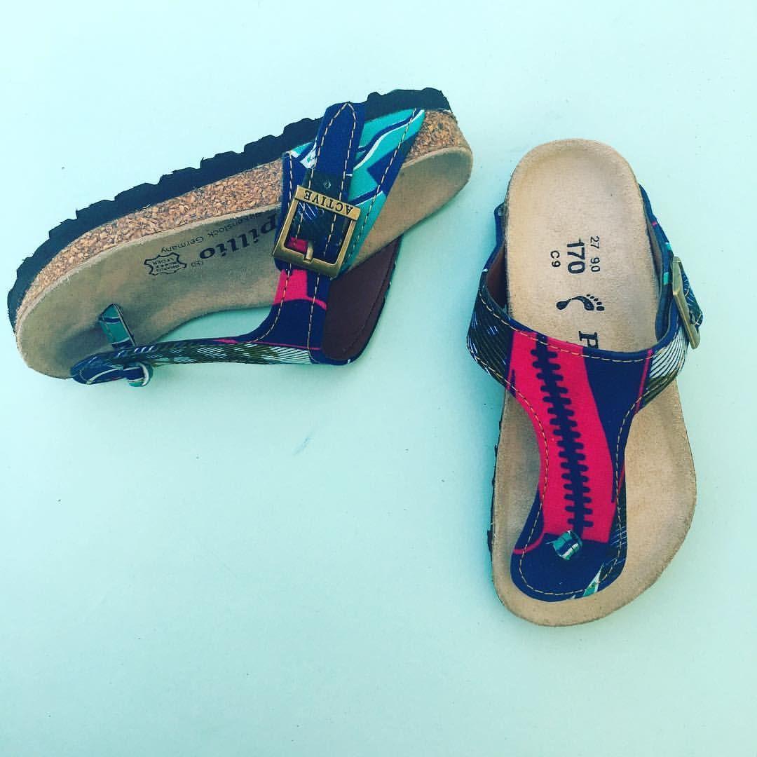 ff3e20ce1a851 African print sandals. Ankara birk inspired sandals. | Bayabs ankara ...