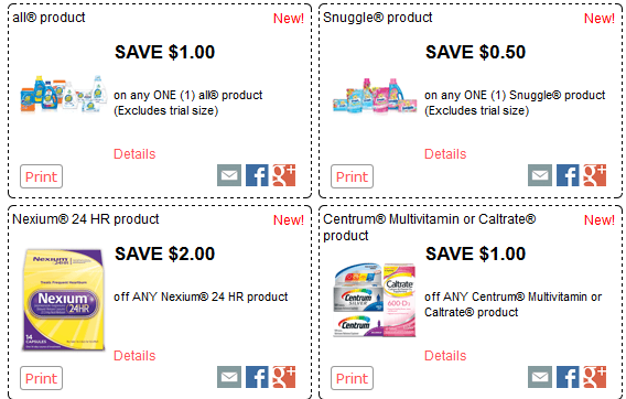 Redplum New Printable Coupons Available All Snuggle Nexium Centrum Purina Rolaids Hefty More Printable Coupons Centrum Coupons