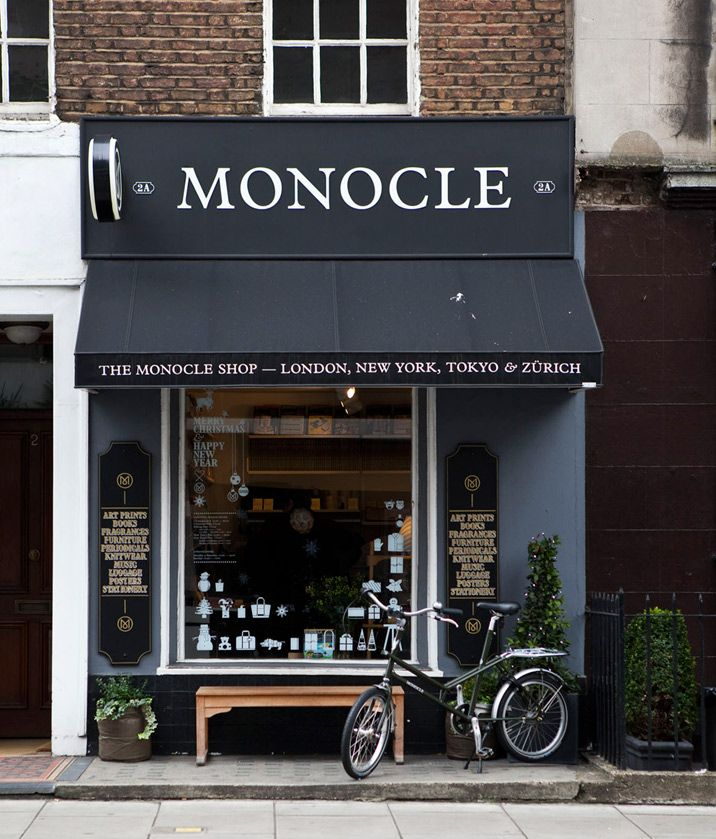 Monocle Shop Products I Love Pinterest Fachadas de tiendas, El - fachadas originales