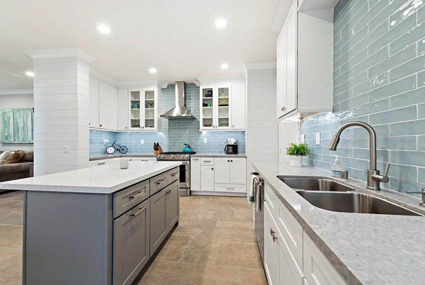 Subway Tile Kitchen Backsplash Ultimate Guide Blue