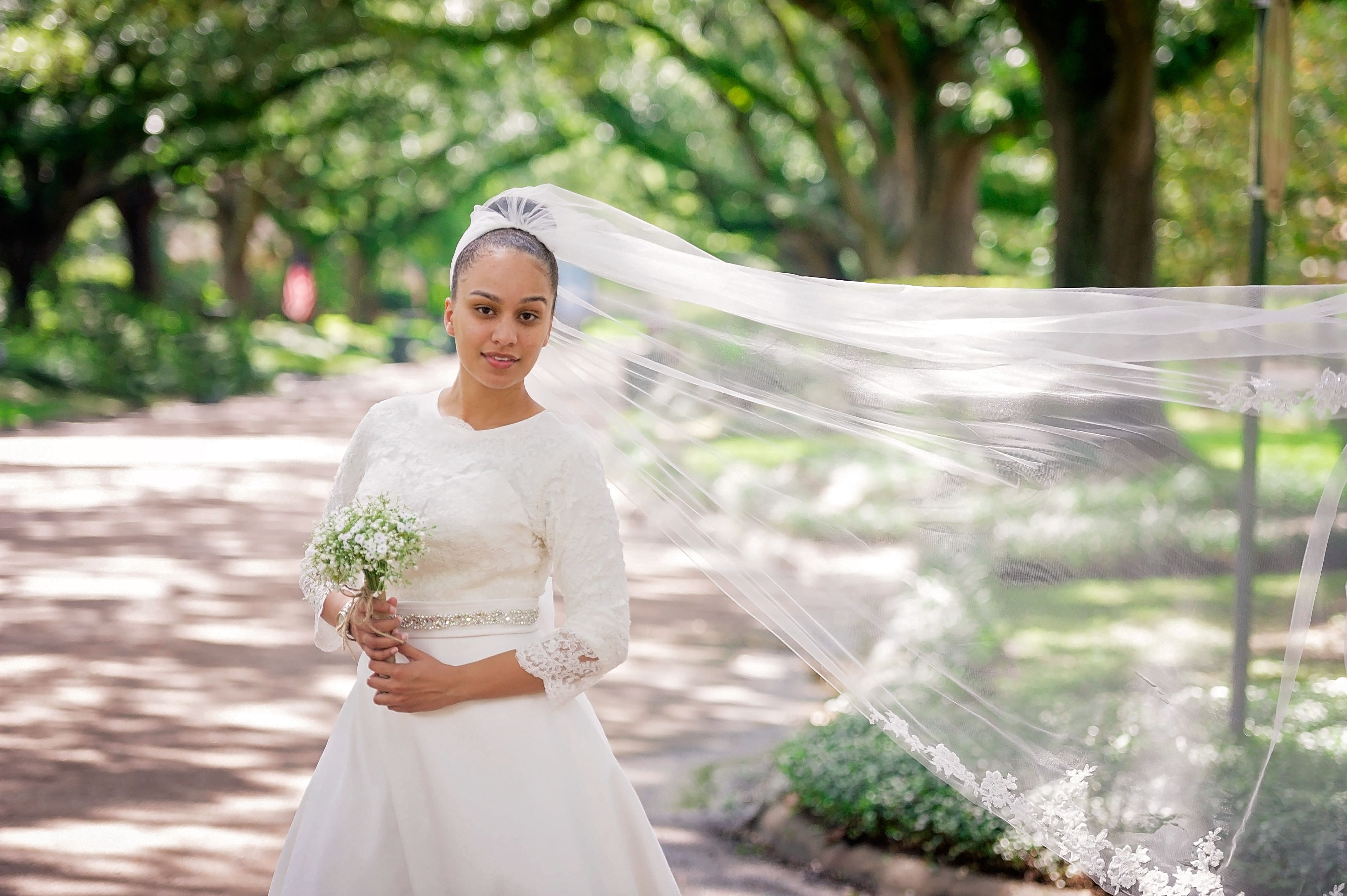 Justine Looked Absolutely Perfect In Her Justin Alexander Gown